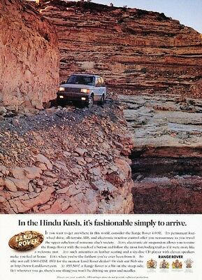 1997 Range Rover Hindu Kush Original Advertisement Print Art Car Ad K52
