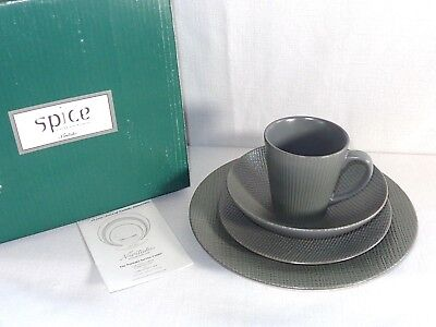 New Noritake China SPICE 4 Pc Place Setting ~ Silver Sage 8070~ in Box C
