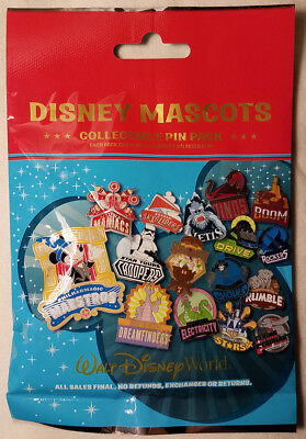 Disney Mascots WDW MYSTERY PIN BAG PACK Disney Park Pins SEALED NEW