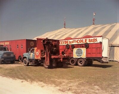 1984 - Clyde Beatty & Cole Bros Combined Circus - Spool Truck & Big Top