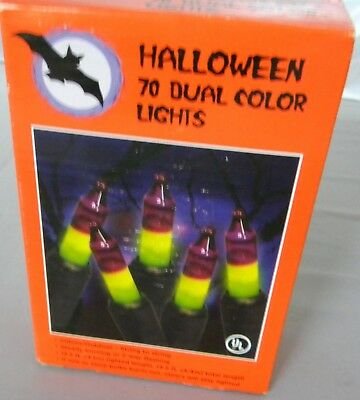 70 Halloween Dual 2 Tone Color Mini Lights Green Purple