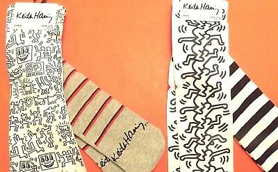4 Pairs of Keith Haring Pop Art Skate Surfer Street Artist Casual Socks Set Men