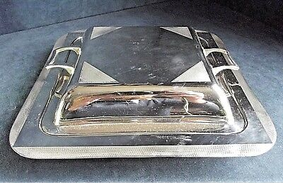 SUPERB Large ~ ART DECO ~ SILVER Plated ~ SERVING Dish ~ c1930
