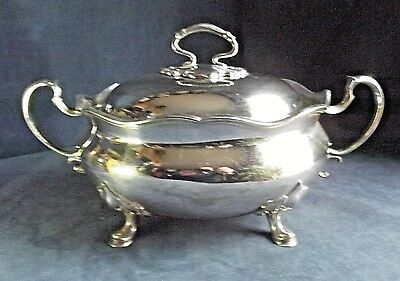 """GOOD Large 14"""" ~ SILVER Plated ~ Soup / Serving TUREEN ~ c1900"""