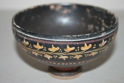 ANCIENT GREEK DECORATED HELLENISTIC GNATHIAN POTTERY BOWL 3rd  CENTURY BC