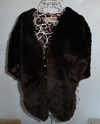 Vintage 1930s Real Fur Mink Collar Stole Shawl Scarf Evening Dress Accessory