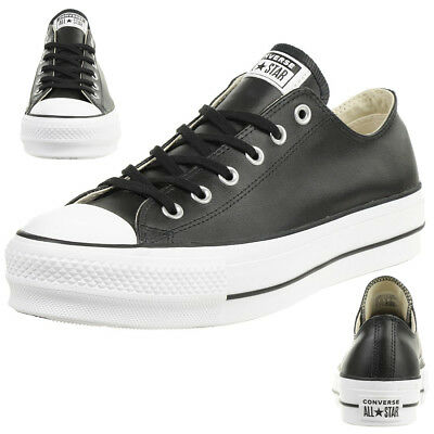 cfabe742472 CONVERSE C TAYLOR All Star LIFT CLEAN OX Chuck Sneaker Leder plateau .