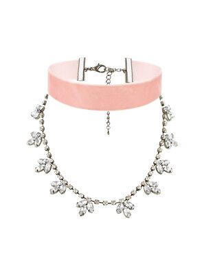 V By Very Velvet & Jewel Drop Double Layer Choker
