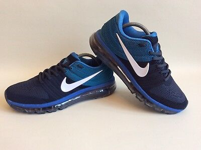 pretty nice 572c6 7b9fd NIKE AIR MAX 2017 Uk Size 7.5 Blue Fantastic Running Shoe 849560-402 BNIB