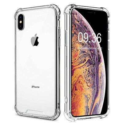 """For Apple iPhone XS Max Case 6.5"""" Silicone Clear TPU Bumper iPhone 10S Max Cover"""