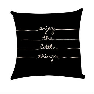 Enjoy the Little Things Home Sofa Decor Cushion Cover Pillow Case Covers B