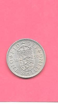 Great Britain Gb Uk Shilling Km904 1959 Vf-Very Fine-Nice Old Vintage Coin