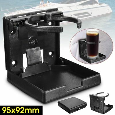 Adjustable Folding Drink Black Cup Mount Holder For Car Boat Marine Caravan Uk