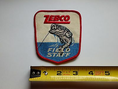 "Zebco Field Staff Fishing Patch Excellent Condition 3 1/2"" X 4"""
