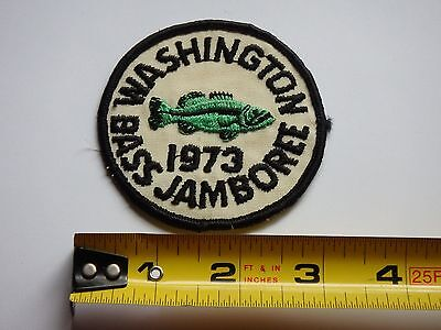 Washington Bass Jamboree 1973 Fishing Patch Excellent Condition 3""