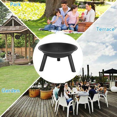 Cast Iron Outdoor Fire Pit Bowl Round Patio Fire Camping Folding Outdoor Firepit