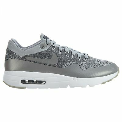 88c6262b0f1 Nike Air Max 1 Ultra Flyknit Mens 843384-001 Wolf Grey Running Shoes Size  8.5