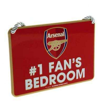 Arsenal  FC Metal Bedroom No1 Fan's Sign Official Merchandise  BIRTHDAY GUNNERS