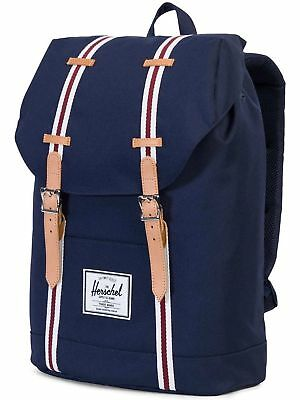 HERSCHEL Offset Collection Peacock Blue RETREAT BACKPACK w Laptop  Protection NEW 81bdac74a9
