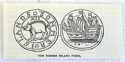 small 1882 magazine engraving ~ SOMERS ISLAND PIECE