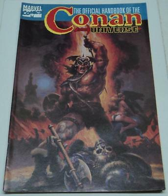 HANDBOOK OF THE CONAN UNIVERSE RARE VARIANT PAINTED COVER (Marvel 1987) (FN+)