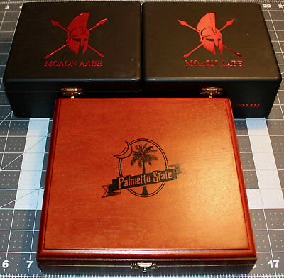 Palmetto State & Molan Labe Cigar Boxes (EMPTY - Lot of 3)