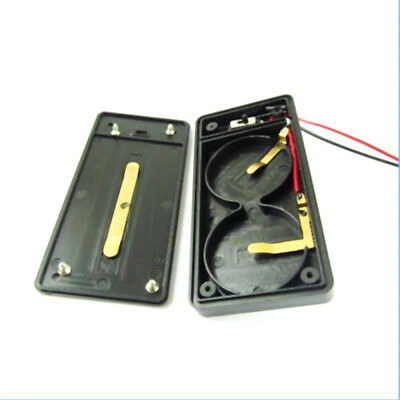 Battery holder case for cr2450 X2 button coin cell with wire lead switch TO