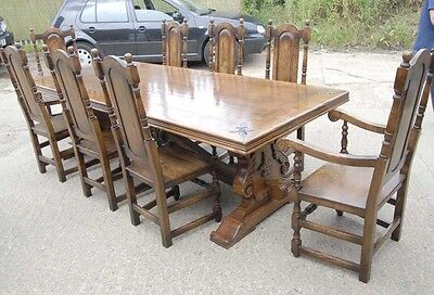 Refectory Table and Chair Set - French Kitchen Dining Set William and Mary