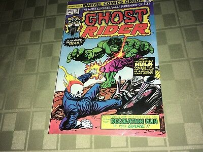 Ghost Rider 1975 Marvel Comic Book #11 0EF1 W/The Incredible Hulk