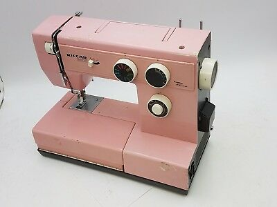 Vintage Riccar 3600 Pink Sewing Machine E21129 115V 1A 60Hz Sew Stitch Project