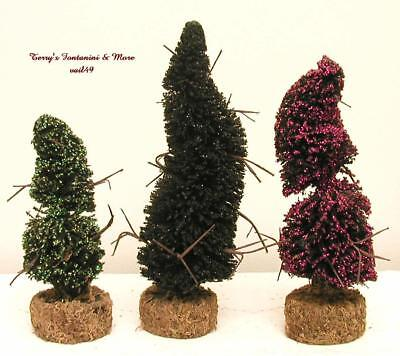 Department 56 Halloween Topiaries 2002 Snow Village 3Pc Accessory Set 53062 Box
