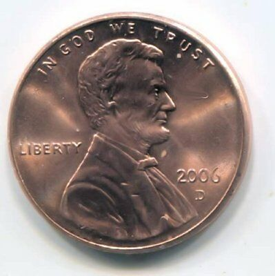 2006 D Lincoln Memorial Penny - Uncirculated American One Cent Coin - Denver