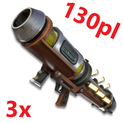 Fortnite Save The World | Set of 3x Vacuum Tube Launcher | 130 | PC PS4 XBOX