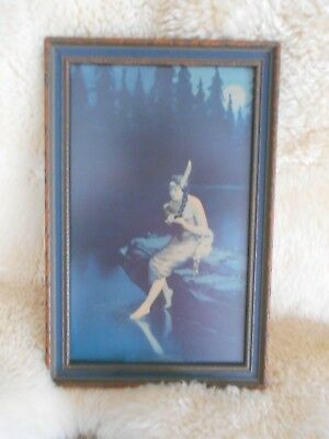 "Vintage Minnehaha Indian Maiden ""Toe In Water"" In Antique Frame by James  Arthur"