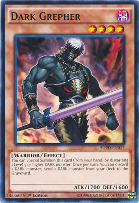 3x (M/NM) Dark Grepher - SDPD-EN017 - Common - 1st Edition  YuGiOh