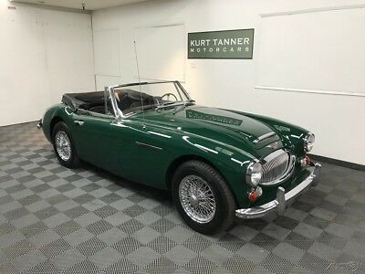 1967 Austin Healey 3000 4-SPEED OD, STAINLESS WIRES. CONVERTIBLE 1967 AUSTIN HEALEY 3000 MK3 BJ-8. BELIEVED 15,401 MILES FROM NEW. SUPERB, CRISP