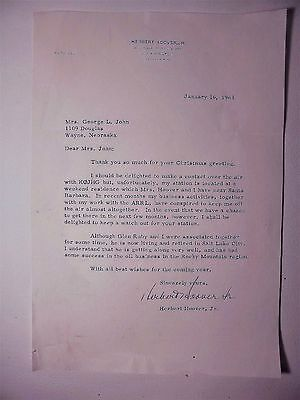 Typed Signed Letter Herbert Hoover, Jr. Personal Stationery 1963