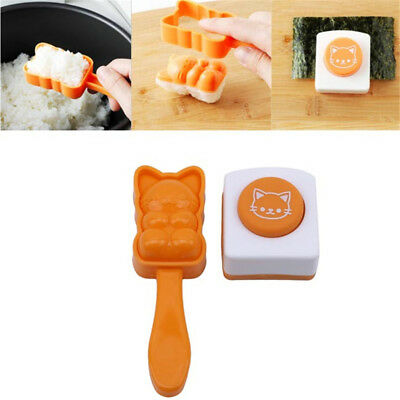 3D Cat Sushi Mould Maker Press Rice Ball Mold Bento Cutter For Kids Meal B