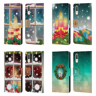 Head Case Designs Holiday Candles Leather Book Case For Huawei Phones