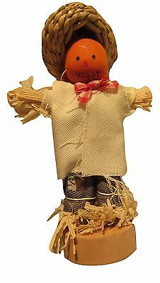 "PUMPKIN HEAD SCARECROW HALLOWEEN 3.5"" ornament"