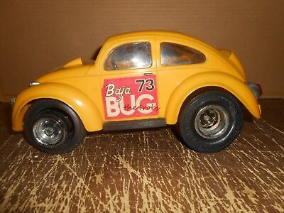 Vintage Cox Volkswagen VW Baja Bug Gas Engine Tether Car