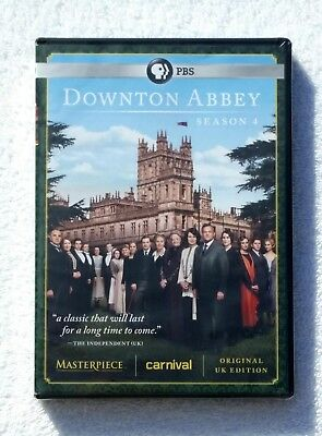 Downton Abbey: Season 4 DVD 3-Disc Set NEW Free Shipping