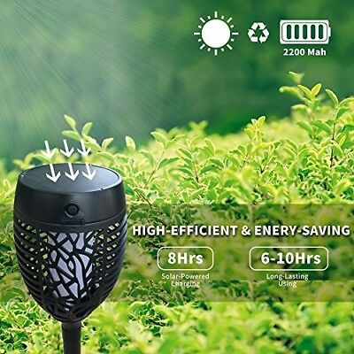 Petrala Solar Torch Lights Outdoor Dancing Flickering Flames USB Charging Rechar