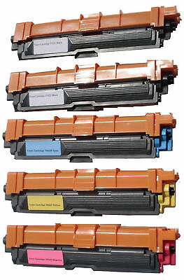 5 Pack TN-221BK TN-225 C/M/Y Combo Set for Brother HL-3140CW, HL-3170CDW,DCP9020