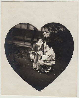 Antique Photo / Mother & Daughter Snapshot / Japanese / c. 1930s