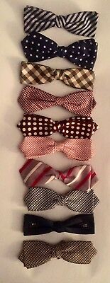 Lot of (10) VINTAGE 50s-60s MEN'S CLIP ON BOW TIES PERFECT!