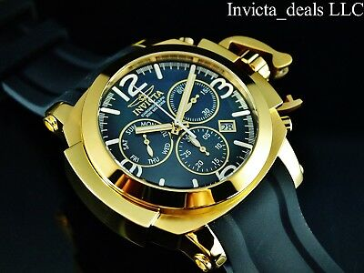 Invicta Men's 53mm Man of War Coalition Forces Swiss Chrono Gold Tone SS Watch