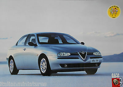 Alfa Romeo 156 Car of the Year 1998 UK  Double Sided Poster Manifesto