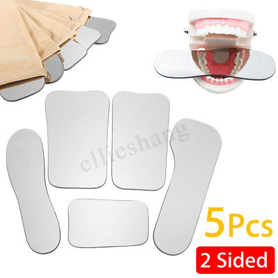 5X Dental Glass Mirror 2 sided Occlusal Intraoral Orthodontic Photograph Rhodium