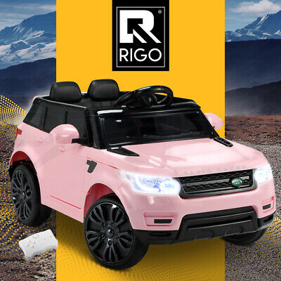 RIGO Kids Ride On Car 12V Electric Toys Battery w/ Remote MP3 LED Lights Pink